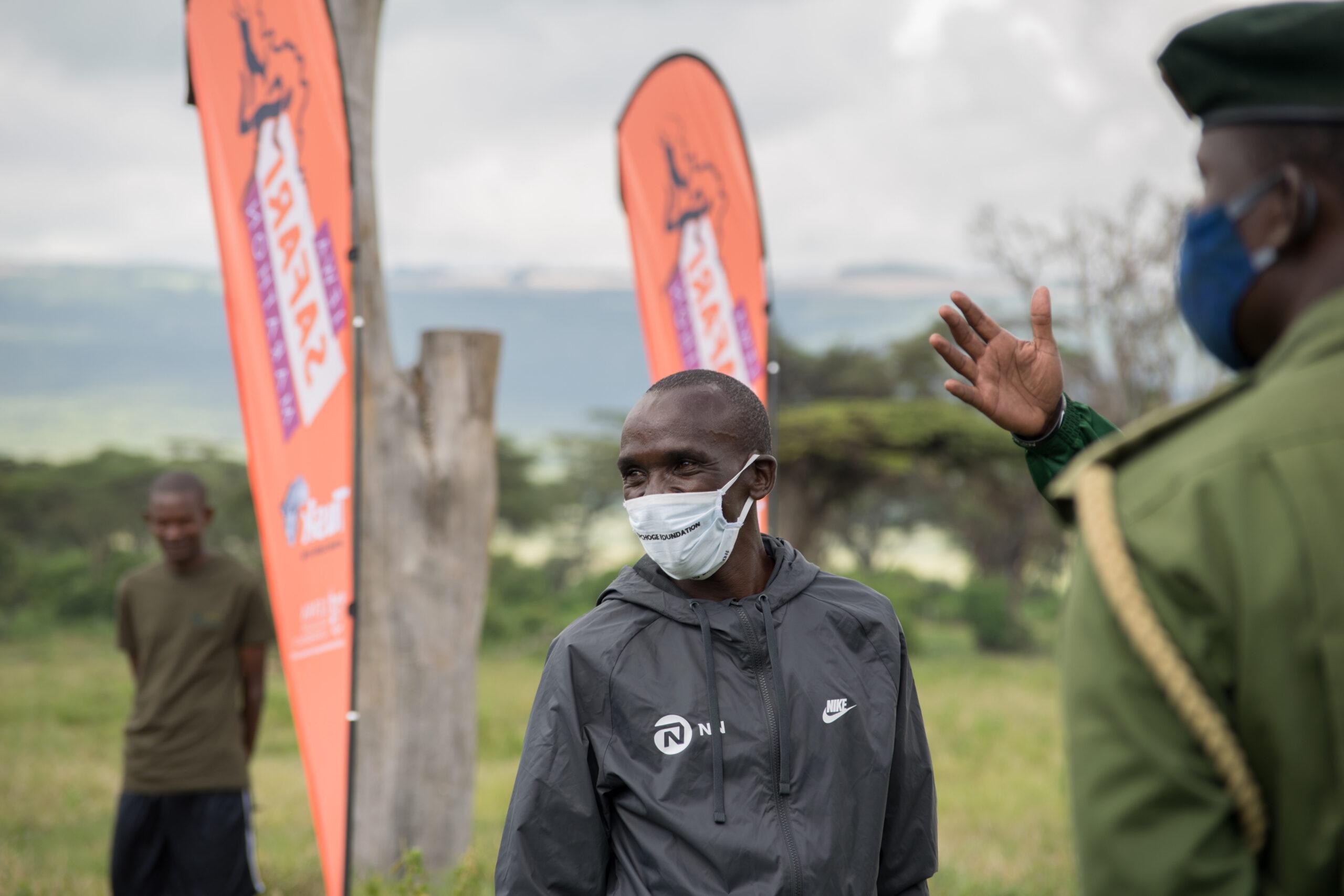 World's Fastest Marathoner Eliud Kipchoge Runs with Lewa Rangers to Encourage Support for the Virtual Lewa Safari Marathon